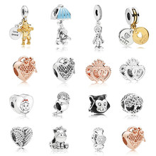 87bc24b3f BAOPON 5Pcs/lot New Silver Color Beads Scarecrow Pendant Charm Fit original Pandora  Bracelet DIY Jewelry For Girl Kids Gift