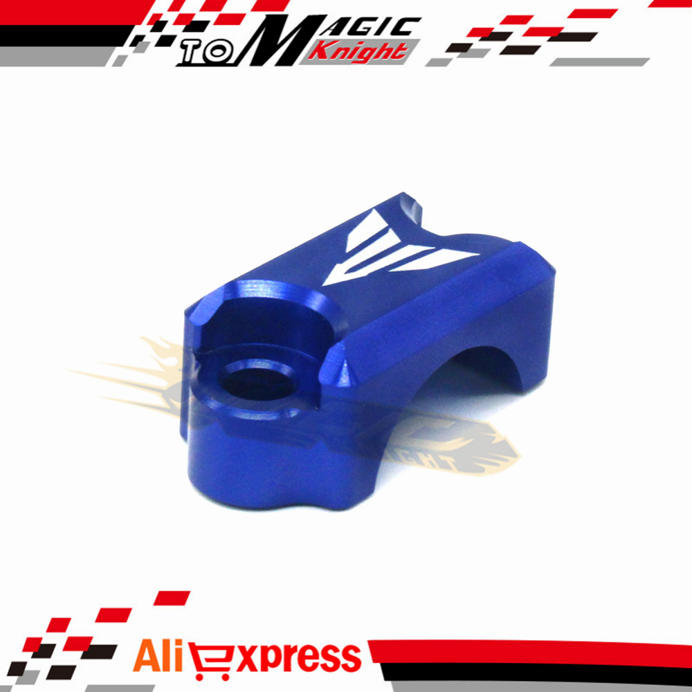 For YAMAHA FZ6 FZ1 FZ8 XJ6 XJR1300 Motorcycle CNC Brake Master Cylinder Clamp Handlebar Clamp Cover Blue for yamaha fz6 fz1 fz8 xj6 xjr1300 motorcycle cnc aluminum brake master cylinder clamp handlebar clamp cover red
