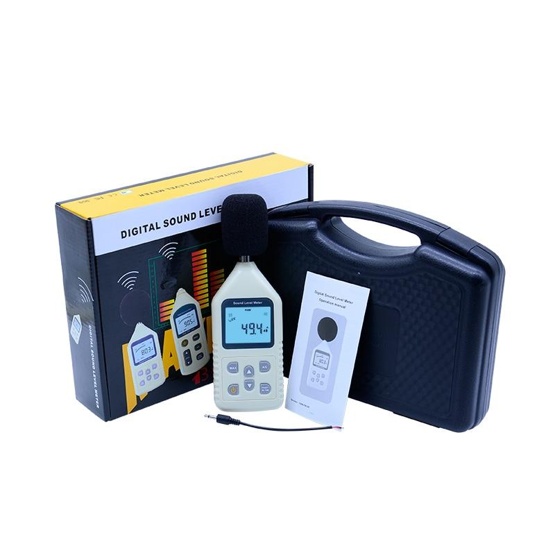 GM1358 Digital Sound Level Meter LCD display 30-130dBA 35~130dBC Noise Tester A/C FAST/SLOW +Carry Box ar814 30 130 dba 35 130 dbc digital decibel meter