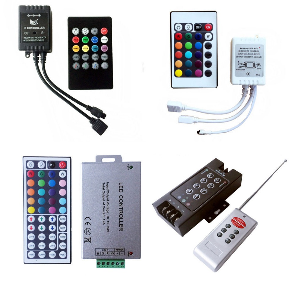 24/44 KEY 24V 12V IR Remote Controller Wireless Music/Bluetooth Controller For 3528 5050 2.4G RGBW RGB LED Strip Light LED Tape 5050 ip20 rgb led strip dc12v diode tape light with wireless wifi mini controller smart control 44 key ir remote controller