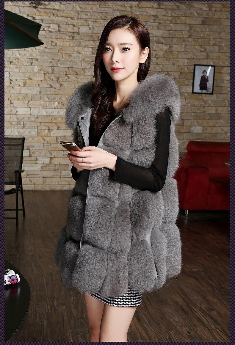 Fausse Faux Marque Gris Manteau Furry Capuche Femmes Avec En De 8 2018 Couleurs Gilet Veste Fourrure nTZpT