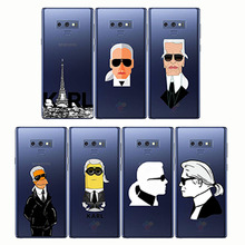 Fashion Karl Lagerfeld Green Soft Silicon TPU Case Cover for Samsung S6 S7 edge S10e s10 lite Note9 8 C7 C9 Pro