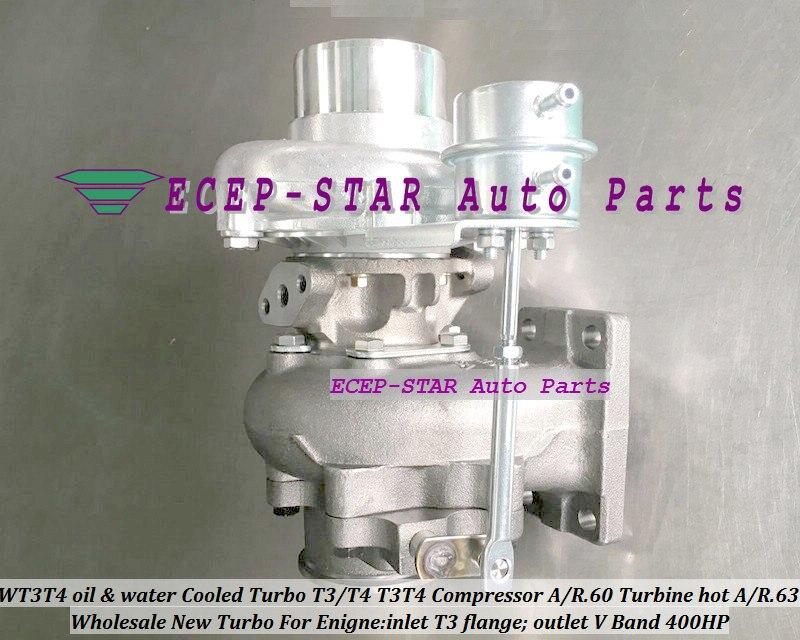 WT3T4 турбокомпрессор с водяным охлаждением T3/T4 T3T4 внутренняя перегородка; компрессор/R. 60 турбины Горячая A/R.63 на входе T3 фланец; розетки тиски