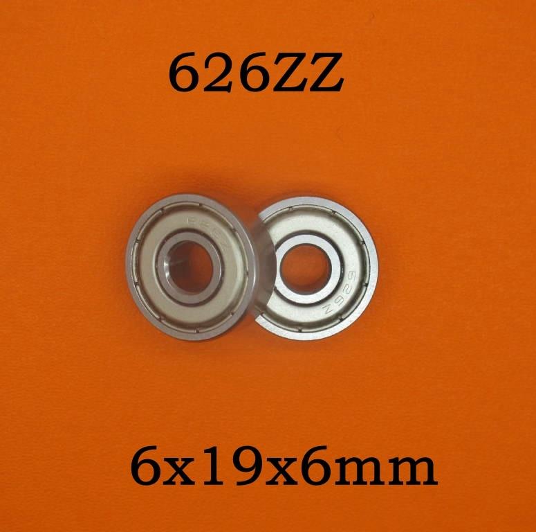 500pcs lot 626ZZ shielded cover deep groove ball bearing 626 626 2Z miniature steel ball bearings