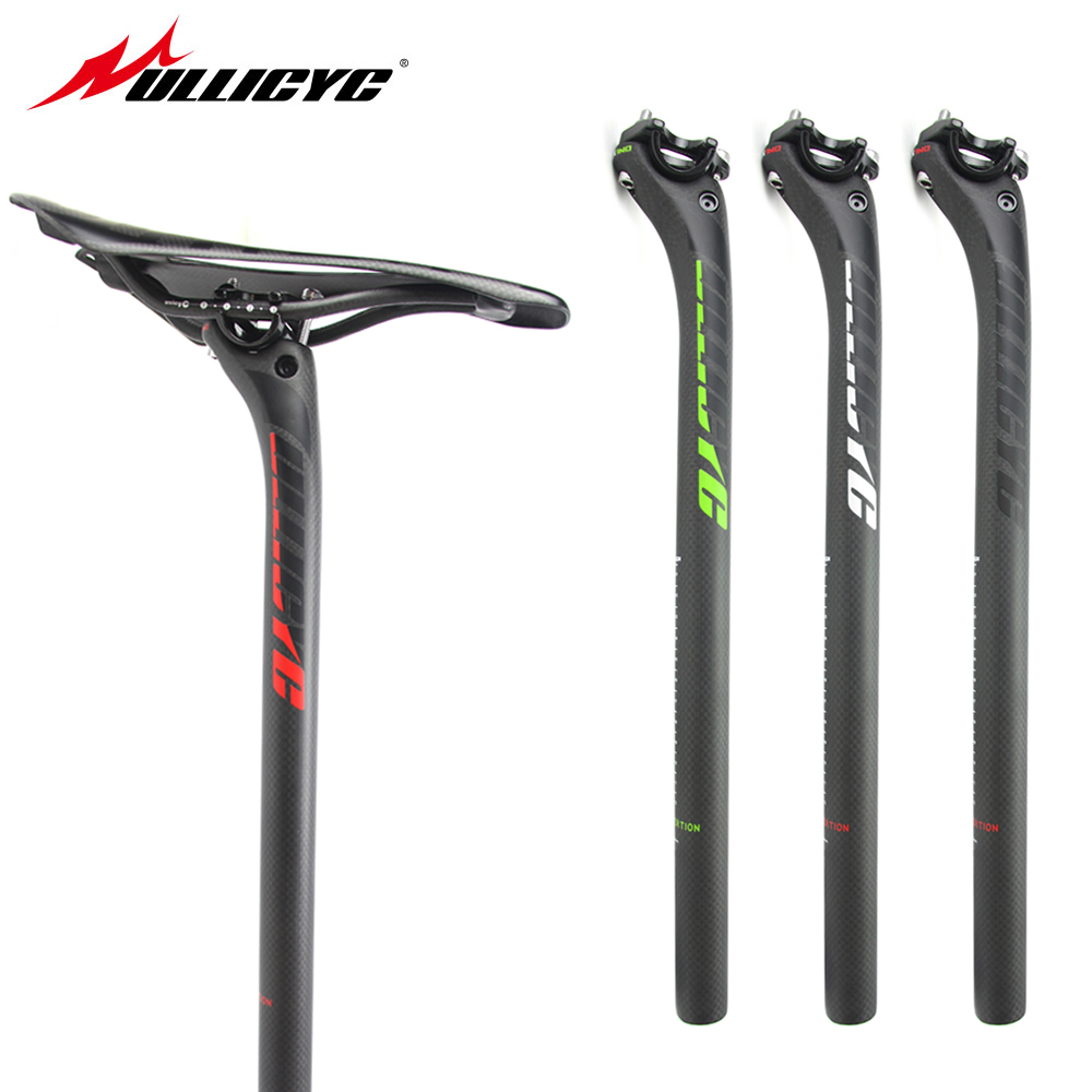 Ullicyc New Red/Balck/Green Back 20mm Carbon Seatpost 27.2/30.8/31.6*400mm Carbon Bike Cycling Parts MTB/Road   HP118