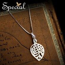 Especial nueva moda 925 collares y colgantes de plata Natural Sea Shell deja regalos de joyas para para XL160309