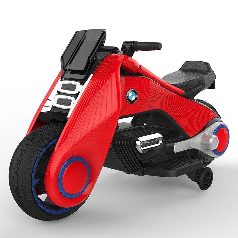 Jouet enfant Tricycle moto électrique pour enfants charge Double entraînement fille et garçons bébé poussette monter sur les voitures en plein air amusant