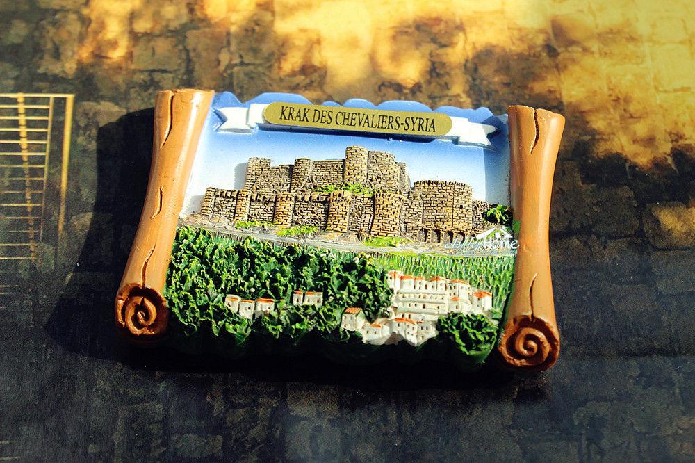 Krak Des Chevaliers, Syria Tourist Travel Souvenir 3D Resin Fridge Magnet Craft