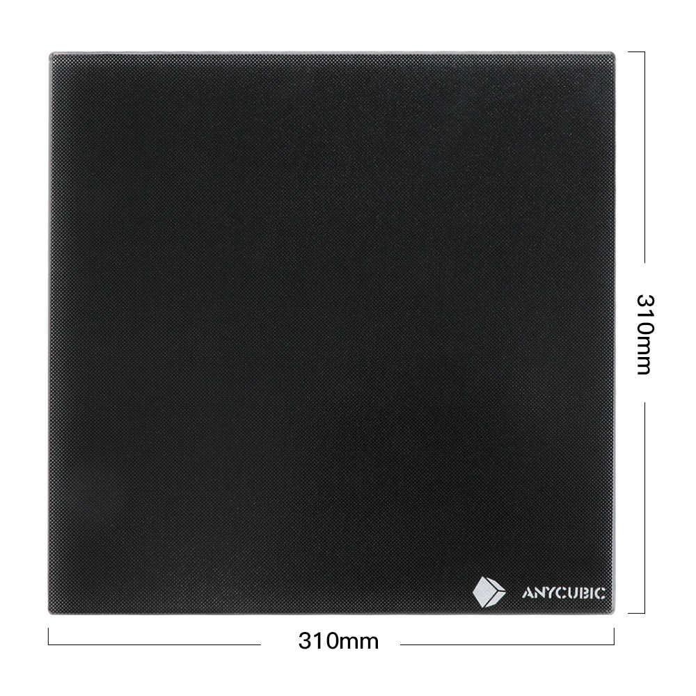 ANYCUBIC Ultrabase 3D เครื่องพิมพ์แพลตฟอร์มอุ่นสร้างพื้นผิวแก้วแผ่นความร้อน 310x310x4 มม.สำหรับ Mega i3 MK2 MK3 เตียงร้อน
