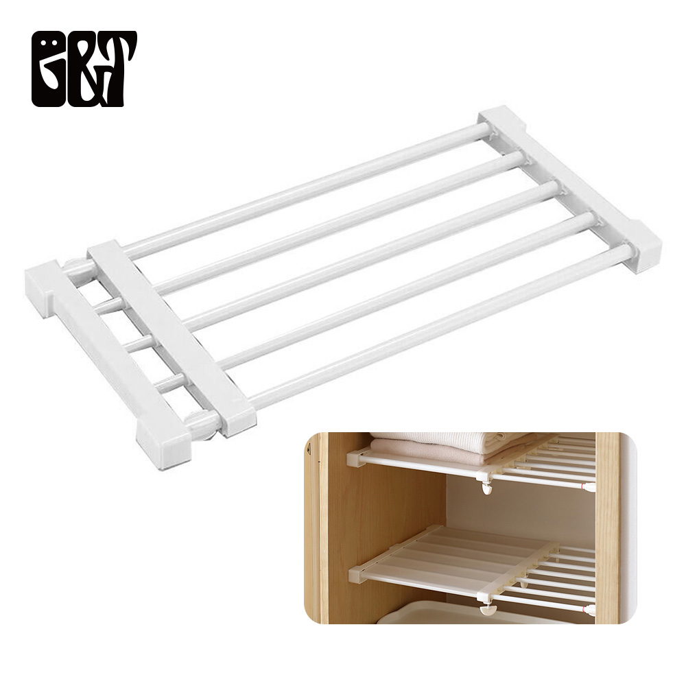 Gt Kitchen Adjustable Storage Shelf Adjustable Closet Storage Organizer Wall Mounted Kitchen Rack Wardrobe Home Shelves Holders