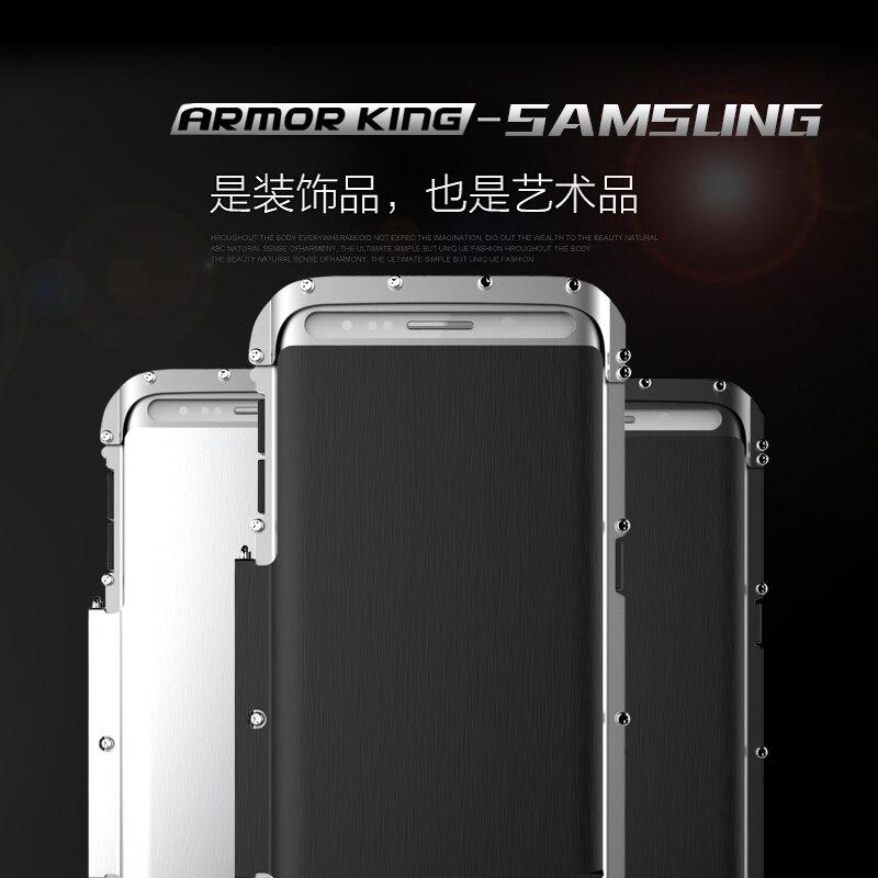 Armure roi fer homme acier inoxydable béquille Anti-coup Flip étui pour samsung Galaxy S6 Edge Plus antichoc Sport couverture