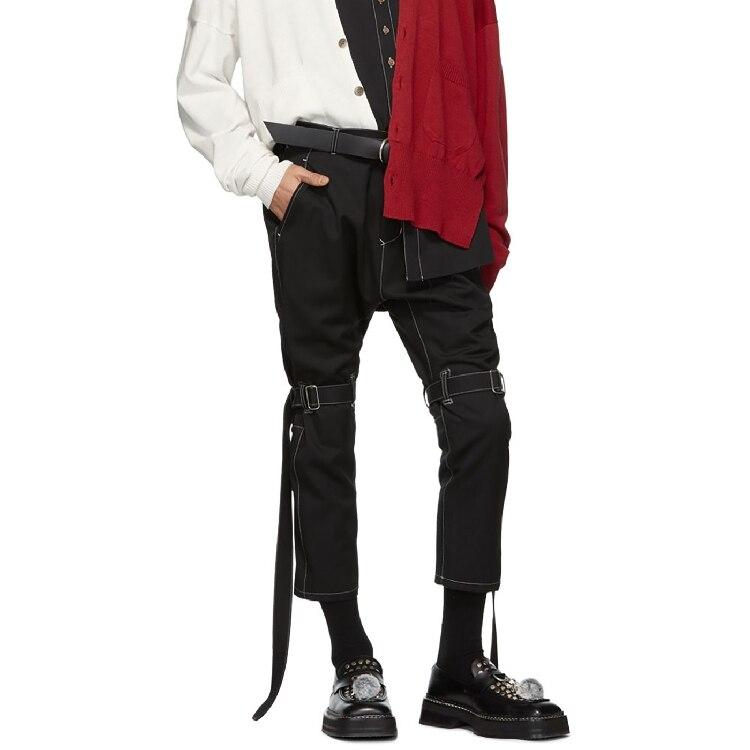 S-6XL!! Chaussures décontractées pour homme avec ligne de compression à neuf points et pantalon à reliure mince.