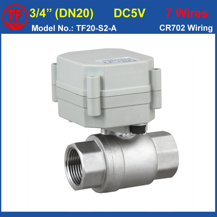 2-Way Stainless Steel 3/4'' Motorized Valve, Full Port DN20 Electric Shut Off Valve For HVAC Heating Water Application CE tf20 s2 c high quality electric shut off valve dc12v 2 wire 3 4 full bore stainless steel 304 electric water valve metal gear
