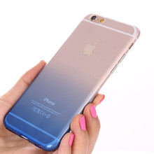 Ultra Thin Glitter Gradient TPU Case For iPhone 5 5S X 6 6S 7 Plus Mobile Phone Case Slim Soft Silicone Gel Cover Capa Fundas