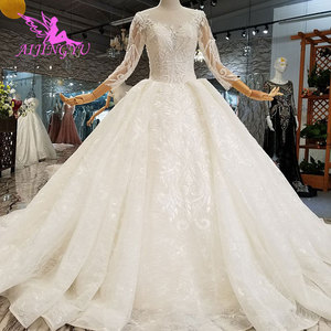 Image 5 - AIJINGYU แม่เจ้าสาว Weddimg ชุด Drees อิตาลีสีขาว Lace Plus ขนาดแขนยาว Imperial ชุดแต่งงาน ชุด