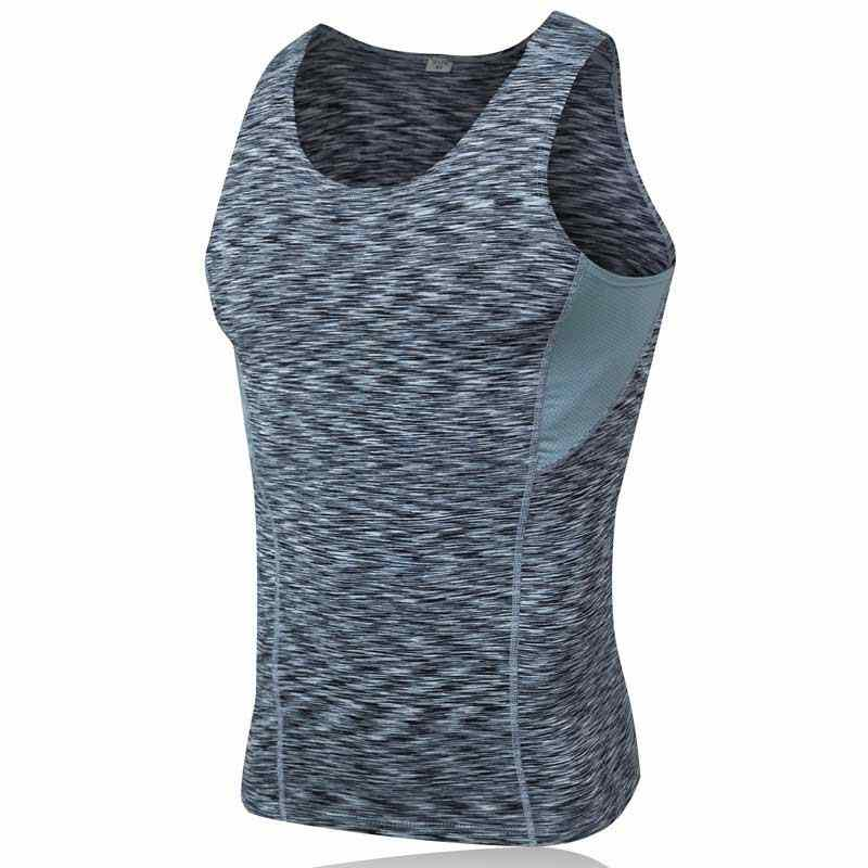 Men Pro Quick Dry Workout Gymming Tank Top Tee Sporting Runs Yogaing Compress Fitness Exercise T-shirts Clothing Shirt 6001