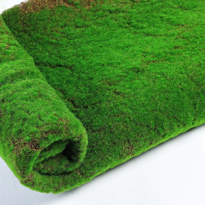 1M*1M Square Artificial Plant Lawn Moss Mat Home Plant Background Wall Moss Turf Green Sod Indoor Window Decor Props