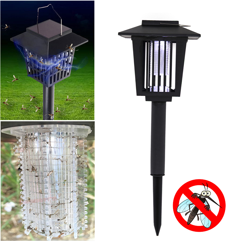 Solar Powered Insect Killer LED UV Mosquito Killer environmentally Lamp Outdoor Garden Lawn Light Killer Insect Pest Bug Zapper акунин чхартишвили аристономия