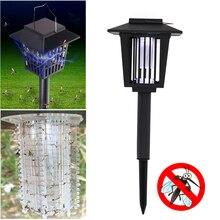 Solar Powered Insect Killer LED UV Mosquito Killer environmentally Lamp Outdoor Garden Lawn Light Killer Insect Pest Bug Zapper
