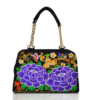 Women Handbag Retro Canvas Phoenix Floral Embroidery Shoulder Messenger Bags 1