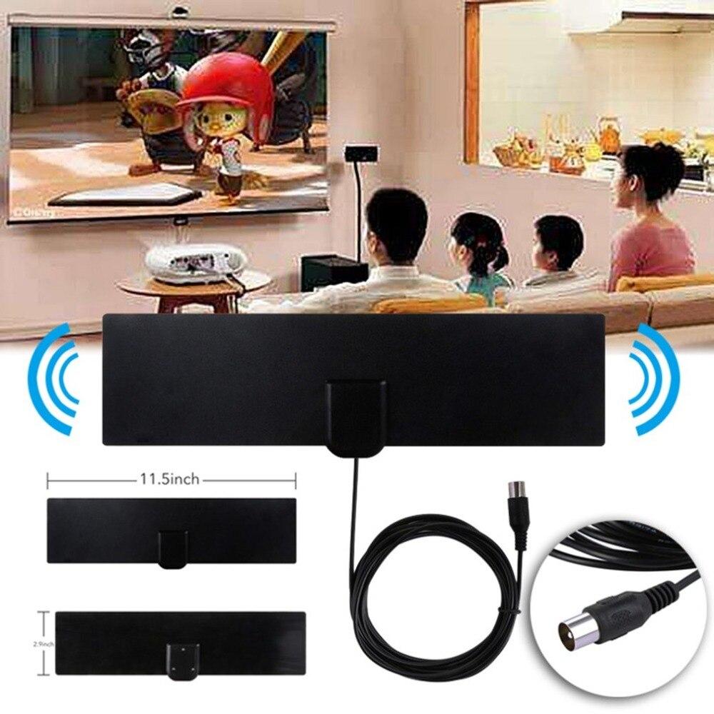 LESHP Rectangle Shape Ultra Thin Flat HDTV Indoor Antenna