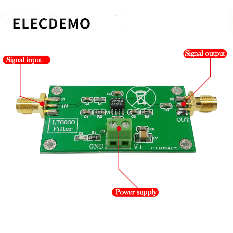 Image 2 - LT6600 Low Pass Filter Module Differential Amplifier Low Noise Low Distortion DAC Filter Processing-in Demo Board Accessories from Computer & Office