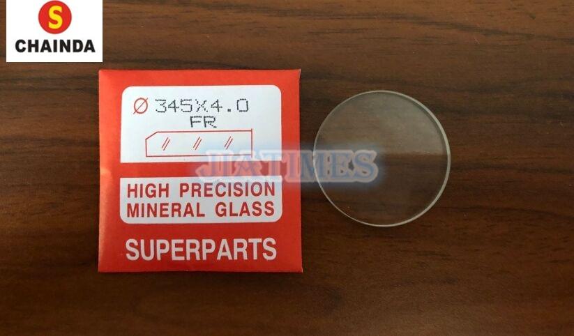 送料無料 20 ピース 4.0 ミリメートル厚さフラットラウンドポリッシュミネラルガラス腕時計の修理  グループ上の 腕時計 からの 修理ツール & キット の中 1