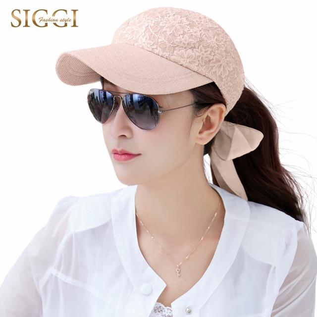Snapback de béisbol sombreros para el sol para las mujeres del cordón del verano floral gasa del bowknot cap gorras viseras al aire libre