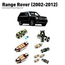 цена на Led interior lights For Land Rover range rover 2002-2012  19pc Led Lights For Cars lighting kit automotive bulbs Canbus