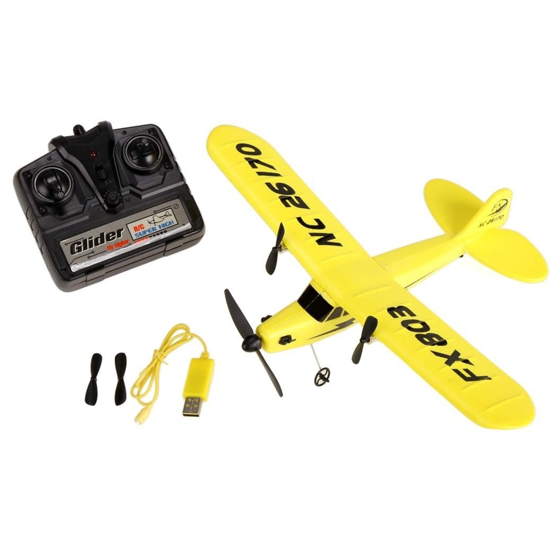 FX HL 803 Electric RC Helicopter Plane Glider EPP foam 2CH 2 4G Kid Toy