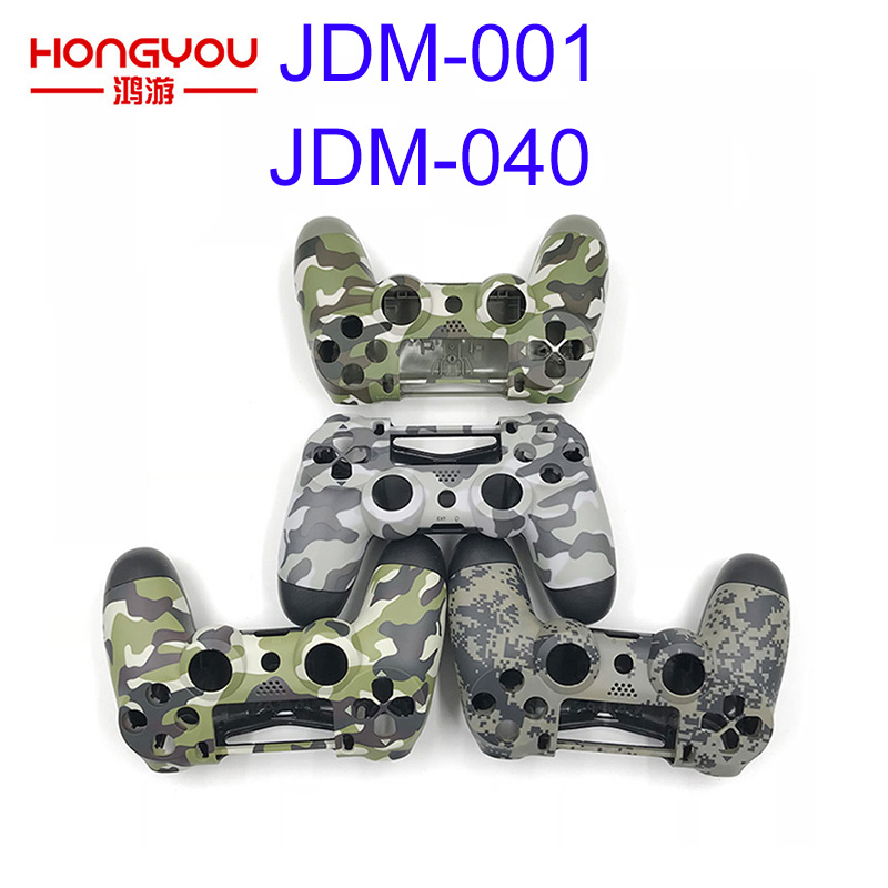 Replacement Camouflage Green Housing Shell Case Cover For Playstation 4 PS4 Pro Controller JDM/S-001 JDM-040 Upper Bottom Shell