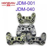 החלפת הסוואה ירוק שיכון Shell Case כיסוי עבור פלייסטיישן 4 PS4 פרו בקר JDM/S 001 JDM 040 עליון תחתון פגז