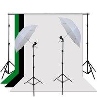 استوديو التصوير 2x3 متر خلفية الدعامات 88 سنتيمتر softbox مظلة الإضاءة كيت و 3 قطع 1.6x3 متر صورة و مصباح حامل