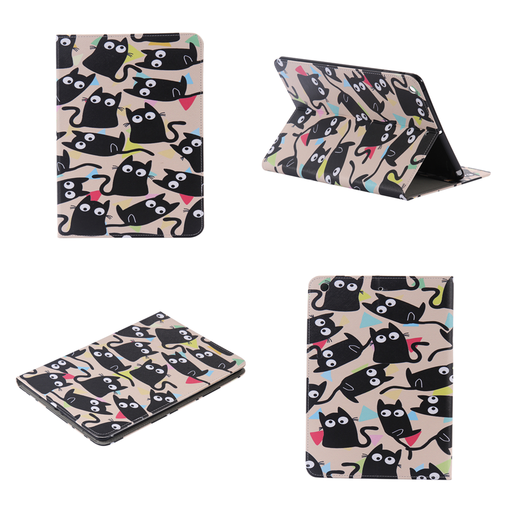 For Apple iPad 7 6 5 4 3 2 Cute Cat PU Leather Stand Case Tablet Back Cover for Apple iPad air 3 2 1 iPad Mini 4 3 2 1 Case #
