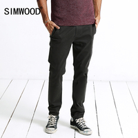 SIMWOOD Casual Pants Men 2017 Autumn New Fashion Slim Fit Trousers Plus Size High Quality Brand