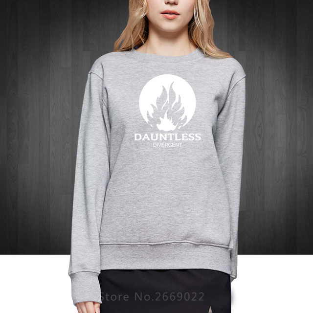 Movie DAUNTLESS Divergent Printed Woman Girls Hoodies Fashion 2016 New Cotton Sweatshirts For Women