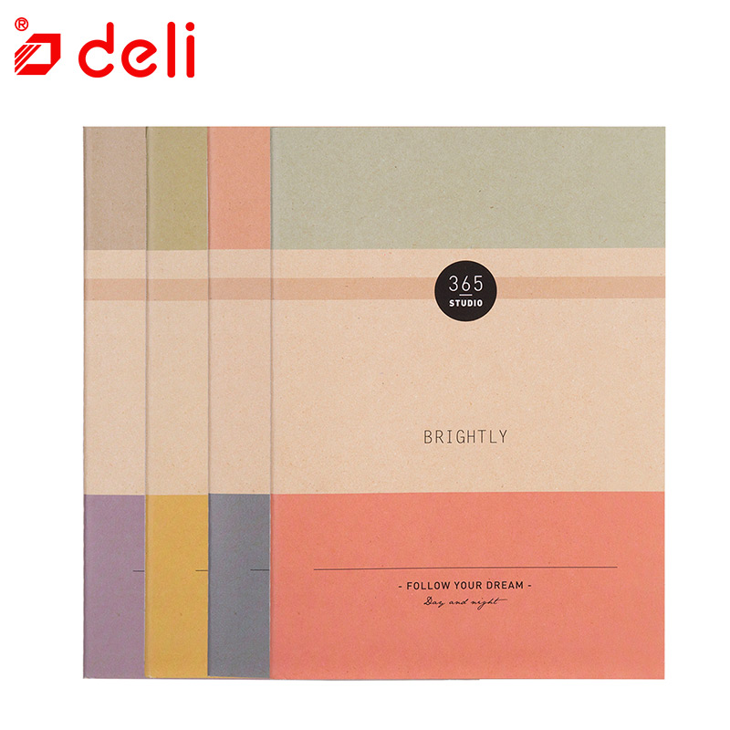 Deli 60Sheets Notebook B5 Paper Journal Agenda Diary Notebook For Writing School Office Supplies Composition Book Free Shipping