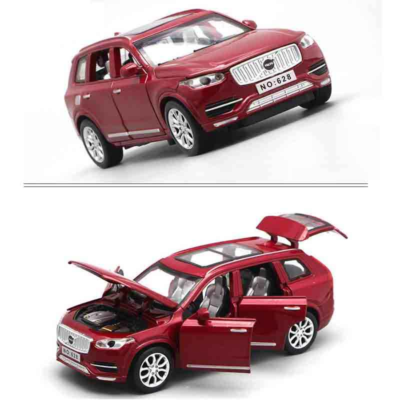 1:32 pres döküm arabalar Volvo XC90 Model oyuncak açılabilir kapılar geri çekin müzikli ışık oyuncak arabalar çocuklar için