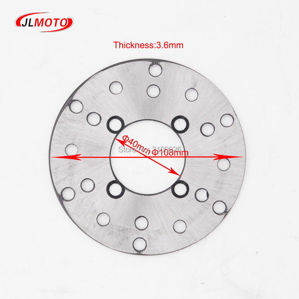 Just 1set 2 In 1 Front Handle Lever Hydraulic Disc Brake 108mm Disc Fit For Atv 50cc 110cc 49cc Bike Go Kart Buggy Utv Scooter Parts Atv Parts & Accessories