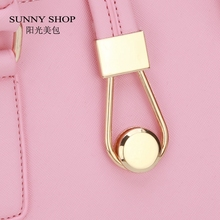 SUNNY SHOP  New Women Purse And Handbags Fashion Hasp Shell Women Messenger Bag White PU leather Shoulder Bag Brand Designer