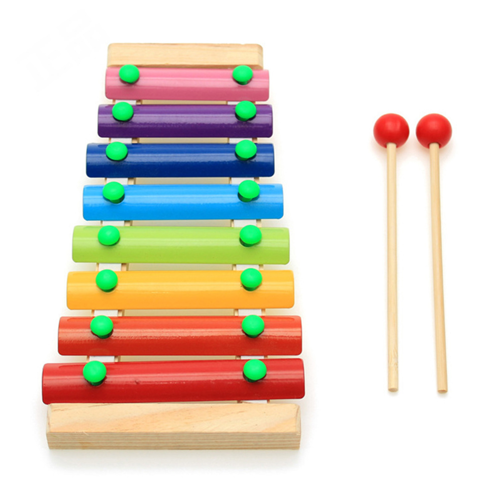New Wooden Xylophone Musical Instrument 8 Tones Toys Multicolor For Children Kids Baby XD88