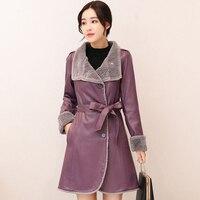 Genuine Sheepskin Coat 2017 Women Thick Warm Plus Size For Winter High Quality Fur One Piece