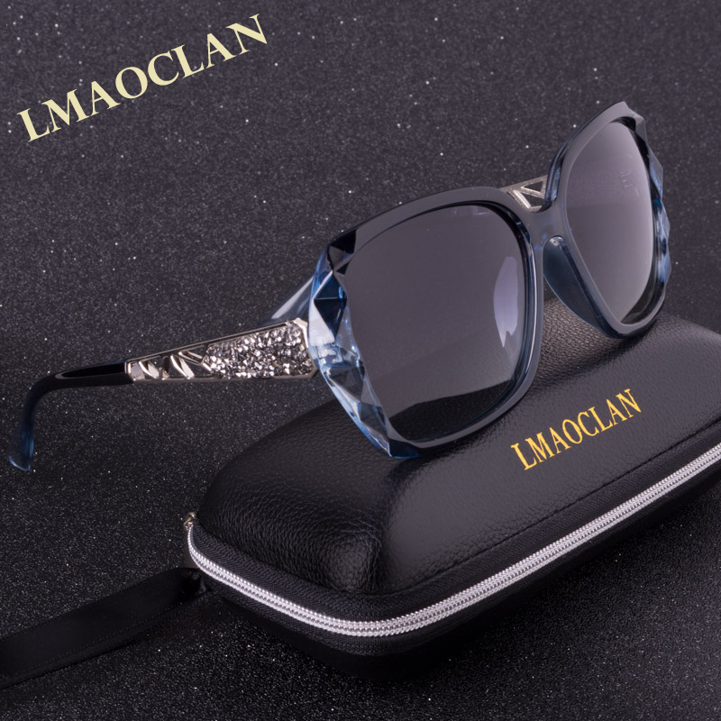 2017 Luxury Brand Design Polarized font b Sunglasses b font Women Ladies Elegant Big Sun Glasses