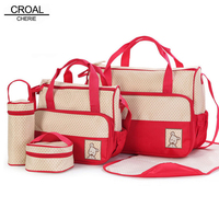 39 28 5 17CM 5pcs Baby Diaper Bag Suits For Mom Baby Bottle Holder Fashion Mother