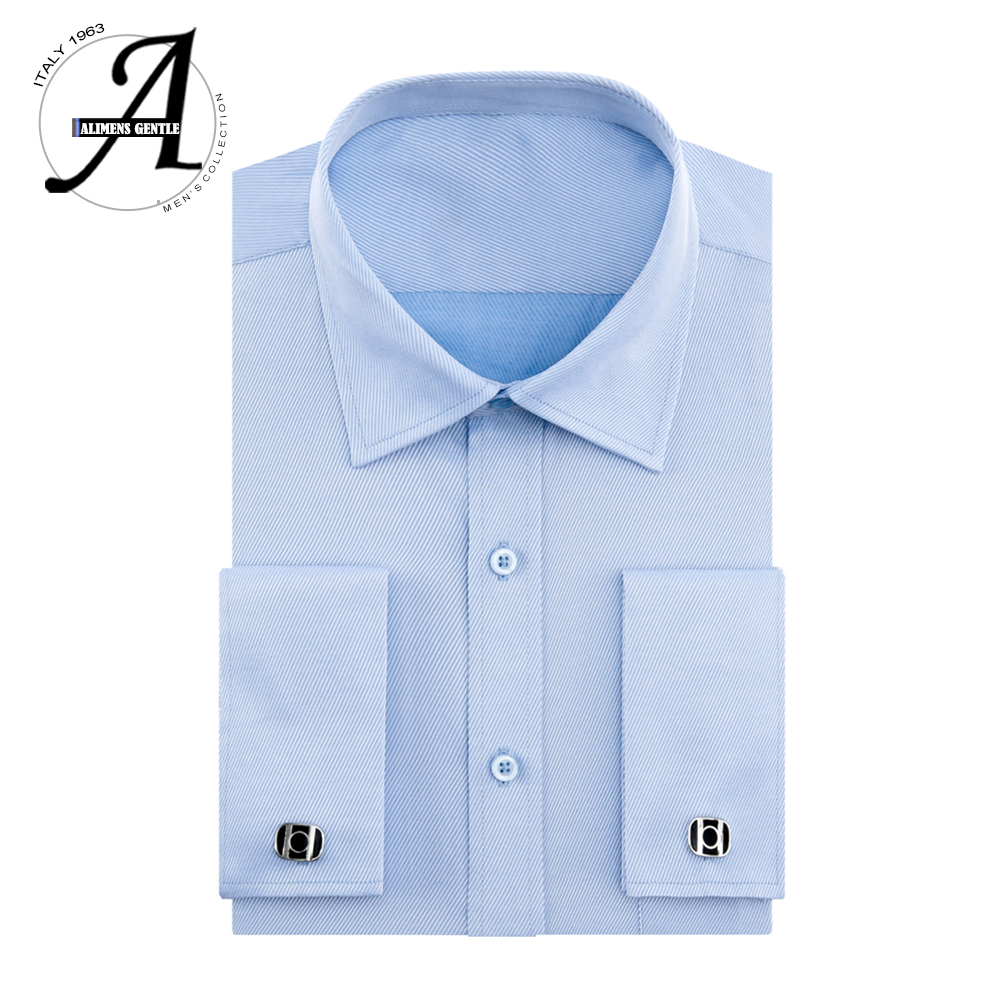 Alimens 13XL 8XL 7XL Big Size Slim Fit Male Casual Shirts Brand Camisa Masculina Long Sleeve French Cuff Dress Shirts For Men