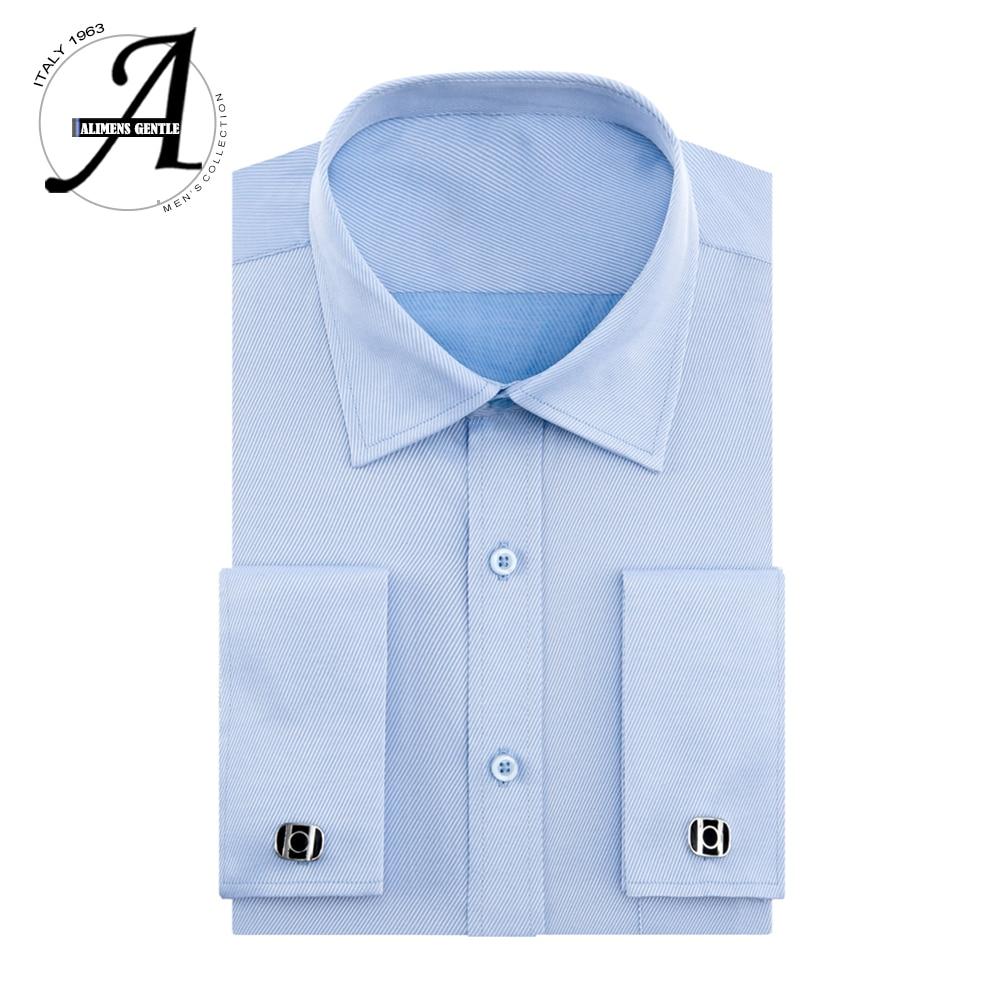 cd09dd4007c Alimens 13XL 8XL 7XL Big Size Slim Fit Male Casual Shirts Brand Camisa  Masculina Long Sleeve French Cuff Dress Shirts For Men
