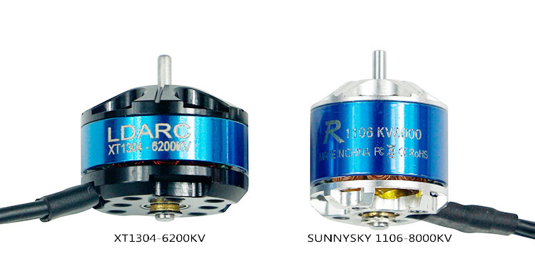 LDARC Kingkong 1304 6200KV Mini Brushless Motor 2-3S PK1106 Motor Double Mounting Hole For FPV Racer Drone Quadcopter RC Racer