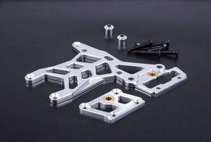 Image 3 - BAJA CNC Alloy Rear Oberen Anschluss Platte Set für 1/5 HPI ROVAN KM BAJA 5B 5 t 5SC Rc Gas teile