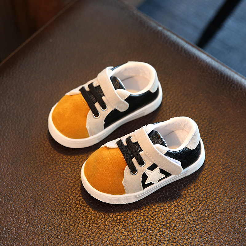 2017 new autumn baby shoes boys and girls anti-skid breathable baby school shoes soft shoes casual shoes