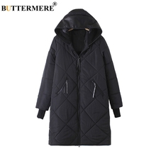 BUTTERMERE Brand Cotton Padded Coat With Faux Leather Hood Patch Designs Winter Jacket Zip